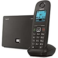 Gigaset A 540 IP Telefono Cordless VoIP, Telefonate via Internet 6 Account VoIP, Nero [Italia]