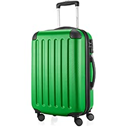HAUPTSTADTKOFFER - Spree - Bagages Cabine à Main, Valise Rigide, Trolley, ABS, TSA, extra léger, extensible, 4 roues, 55 cm, 49 L, Vert