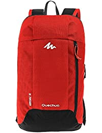 Quechua Nylon 10 Ltr Red Travel Backpack