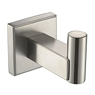 Angle Simple G2102P Stainless Steel Channel Single Robe Hook, Brushed Nickel