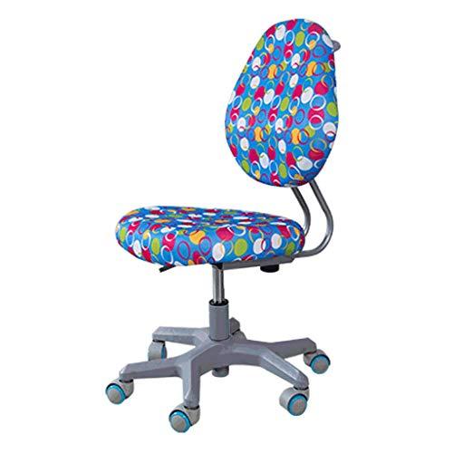 zyy Zuhause Büro Aufgabe Stuhl Mitte Zurück Einstellbar Computer Schreibtisch Stühle Zum Kinder Kinder Studie (Farbe : Blau) -