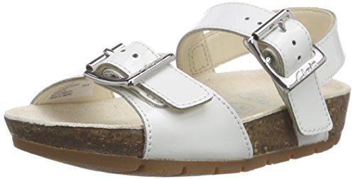 Clarks VolkinIcon Inf, Mädchen Knöchelriemchen Sandalen, Weiß (White Patent), 27 EU (9 Kinder UK)