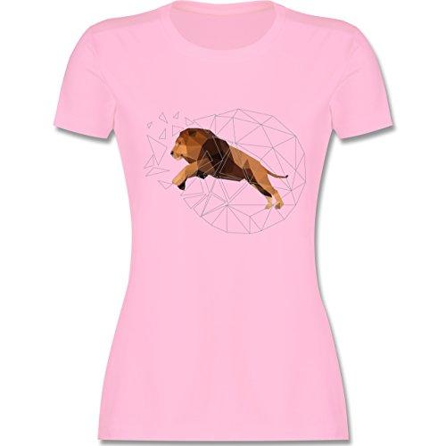 Sonstige Tiere - Freiheit Löwe - tailliertes Premium T-Shirt mit  Rundhalsausschnitt für Damen Rosa