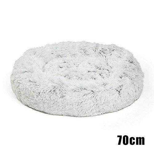 Curitelydeluxe Tierbett, für Katzen und Klein Mittlere Hunde Enge Umarmung mit Weichem Kissen Rund oder Oval Donut Nestend Höhle Bett Haustier Katze Bett für Katzen und Hund - 70cm -