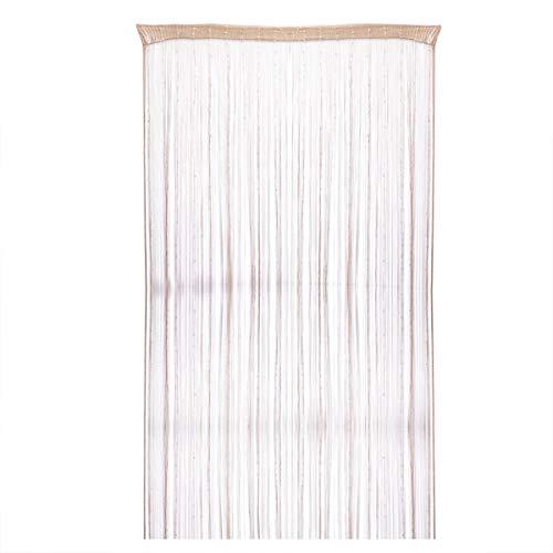 BESPORTBLE Korean Fashion Lametta Quaste String Line Vorhänge mit Glitter Pailletten Shinny Tür Vorhang Valance (Champagner) Glitter Line