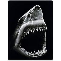 YISUMEI Decke 150x200 Cm Kuscheldecken Sanft Flanell Weich Fleecedecke  Schwarzer Hai