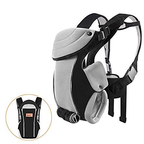 Bable Porte-bébé ergonomique ventral 3-en-1 portant bébé à l'avant et à l'arrière, Porte Bébé dorsale physiologique respirants et confortables en toute saison