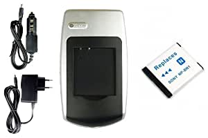 Chargeur + Batterie NP-BN1 pour Sony Cyber-shot DSC-WX30, WX50, WX70, WX100, WX150