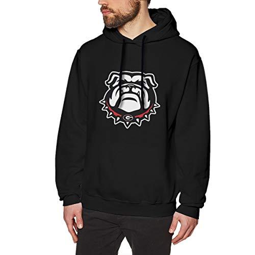 Scottdstalter Lässige Pullover Sweatshirts University of Georgia Bulldog Süß Black S Herren Hoodies Langarm -