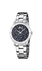 Lotus Watches Reloj Análogo clásico para Mujer de Cuarzo con Correa en Acero Inoxidable 18569/4