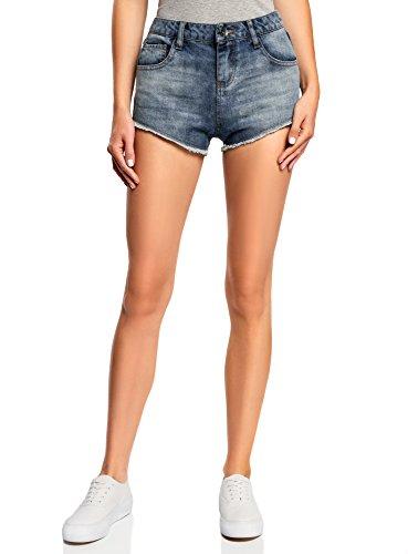 oodji Ultra Damen Jeans-Hotpants, Blau, W27 / DE 36 / EU 38