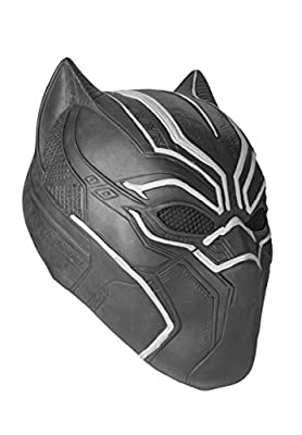ASVP Shop Black Panther Mask Marvel Superhero Cosplay Latex Party Mask Halloween by ASVP Shop
