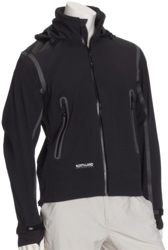 Northland Herren Storm Shell Jacke Eiger Jacket, Black, L Storm Shell Jacke