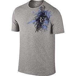 Nike Rf M Nkct Tee Camiseta Línea Rafa Nadal, Hombre, Gris (Dk Grey Heather / Polar), S