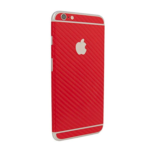stika.co Strukturierte Haut Aufkleber für Apple iPhone 6/6S 11,9 cm, Red Carbon Fiber, to fit Apple iPhone 6 / 6S 4.7