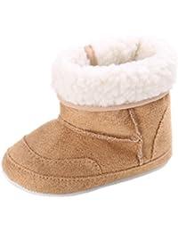 Auxma Zapatos de Bebé Botas Para La Nieve Suave de La suavidad del Bebé Zapatos Suaves del Pesebre Botas del Niño Para 0-6 6-12 12-18 Mes