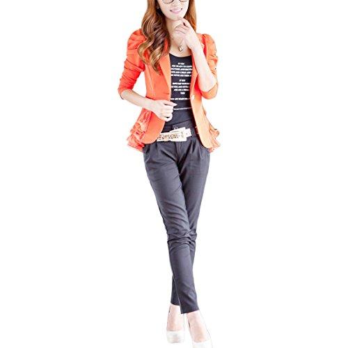 Aisuper Damen Blazer Gr. 42, Orange