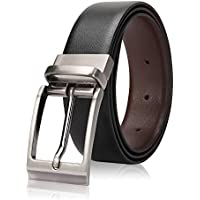 Second May Men's Leather Nickel FreeBuckle Belt, 34inches(Black, Blet-07)