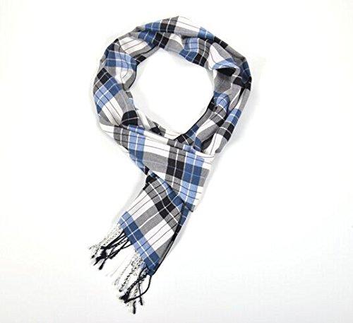 Da uomo, trendy tartan grande 30*180cm, sciarpa, scalda & Softer