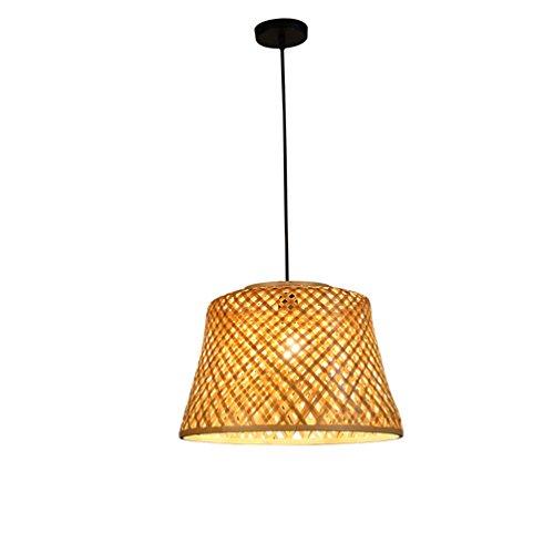 ZWD Lustre en bambou, restaurant à tête unique Lustre Barbecue Shop Cafe Chandelier Lampe de table Creative Lampe en bambou E27, 40 * 28CM Hanging Wire 150cm Luminaire (taille : 40 * 28CM)
