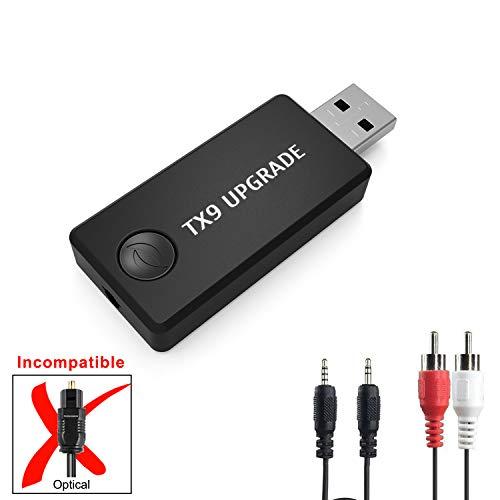 Bluetooth Transmitter Sender für TV, LURICO Bluetooth Adapter Empfänger 4.0 Stereo Transmitter Sender für Smart TV, CD DVD Abspielgerät PC Laptop Tablette MP3 MP4. 3.5 mm Aux