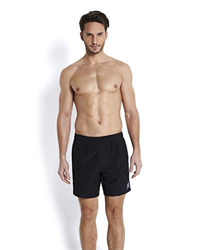speedo-mens-check-trim-leisure-watershorts-black-oxid-grey-small-16-inch