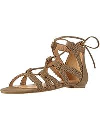 La StradaTaupe suede leather look sandal - Sandali a Punta Aperta Donna amazon-shoes marroni Pelle