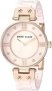 Anne Klein Women's Swarovski Crystal Accented Ceramic Bracelet Watch, AK/