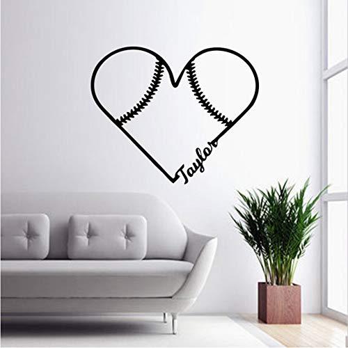 Favorit softball vinyl decals schöne baseball wandaufkleber schlafzimmer dekoration kunst wohnzimmer diy 43x52 cm -