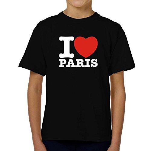 Teeburon i love paris maglietta giovanile