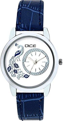 Dice Analogue White Dial Women\'s Watch - GRC-W157-8867