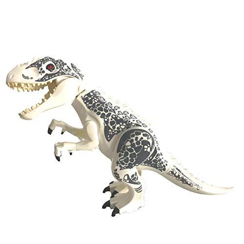 welltobuy High Simulation Dinosaurier - Hot Große Indominus Rex Dinosaurier Spielzeug Jurassic World Dinosaurier Figur Blöcke Statische Dinosaurier Figuren Dekoration Raptor Spielzeug Set ()