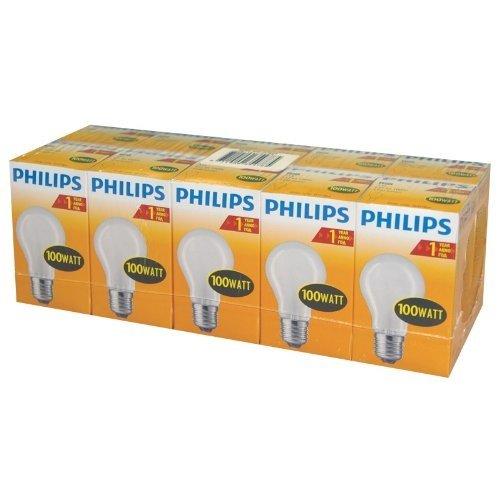 philips-pack-de-10-ampoules-a-incandescence-opaques-mates-forme-classique-culot-e27-100w