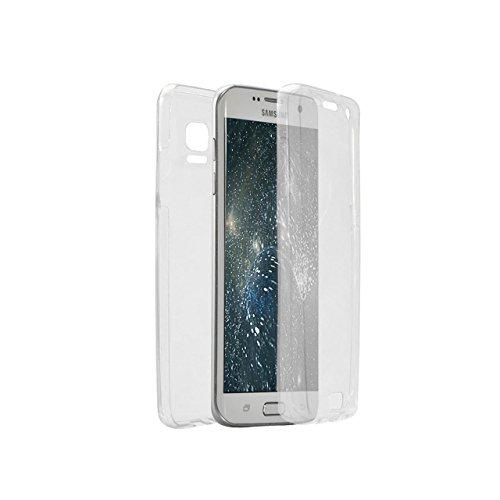 Cover Samsung Galaxy Note 4 N9100 360 Gradi,Custodia Full Body Samsung Galaxy Note 4 N9100,Fronte Retro trasparente Ultra Sottile Silicone Case Molle di TPU Sottile 3 in 1 Protezione Completa Glitter  360 Clear