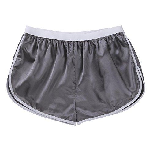 Tiaobug Herren modische Shorts Badeshorts Badehose Kurze Hose Sport Hose Pants Schwimmshorts Beachwear Strand Shorts Boxer Brief M-XL Silber-grau L(Taille 74-132cm)