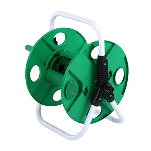 ULTECHNOVO Gartenschlauchaufroller Modellwagen Rohrlagerregal Tragbare Autowaschpistole Rahmenhalter (Grün)