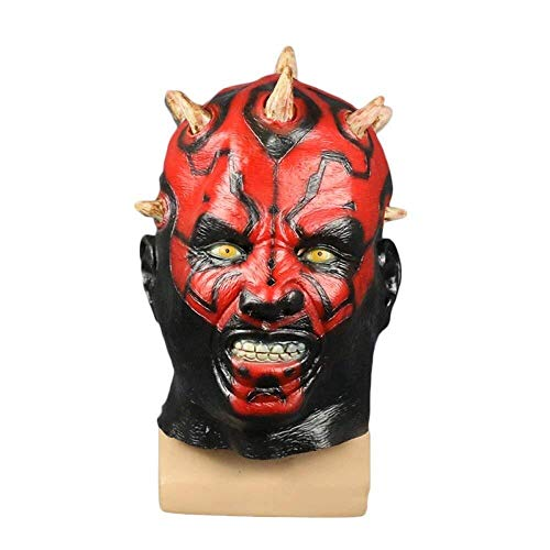 Neue Kostüm Captain America Der - Xiao-masken Neue Scary Adult Kostüm Horn Maske Horror Party Cosplay Halloween Latex Scary Horns Red Devil Maske for Party Cosplay