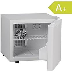 AMSTYLE Petit frigo - 17 litres - mini-réfrigérateur 5-15 °C Classe A+ | Réfrigérateur hôtel petit avec 2 compartiments | Réfrigérateur compact avec la lumière | Mini-bar - 39x34x42 cm - blanc