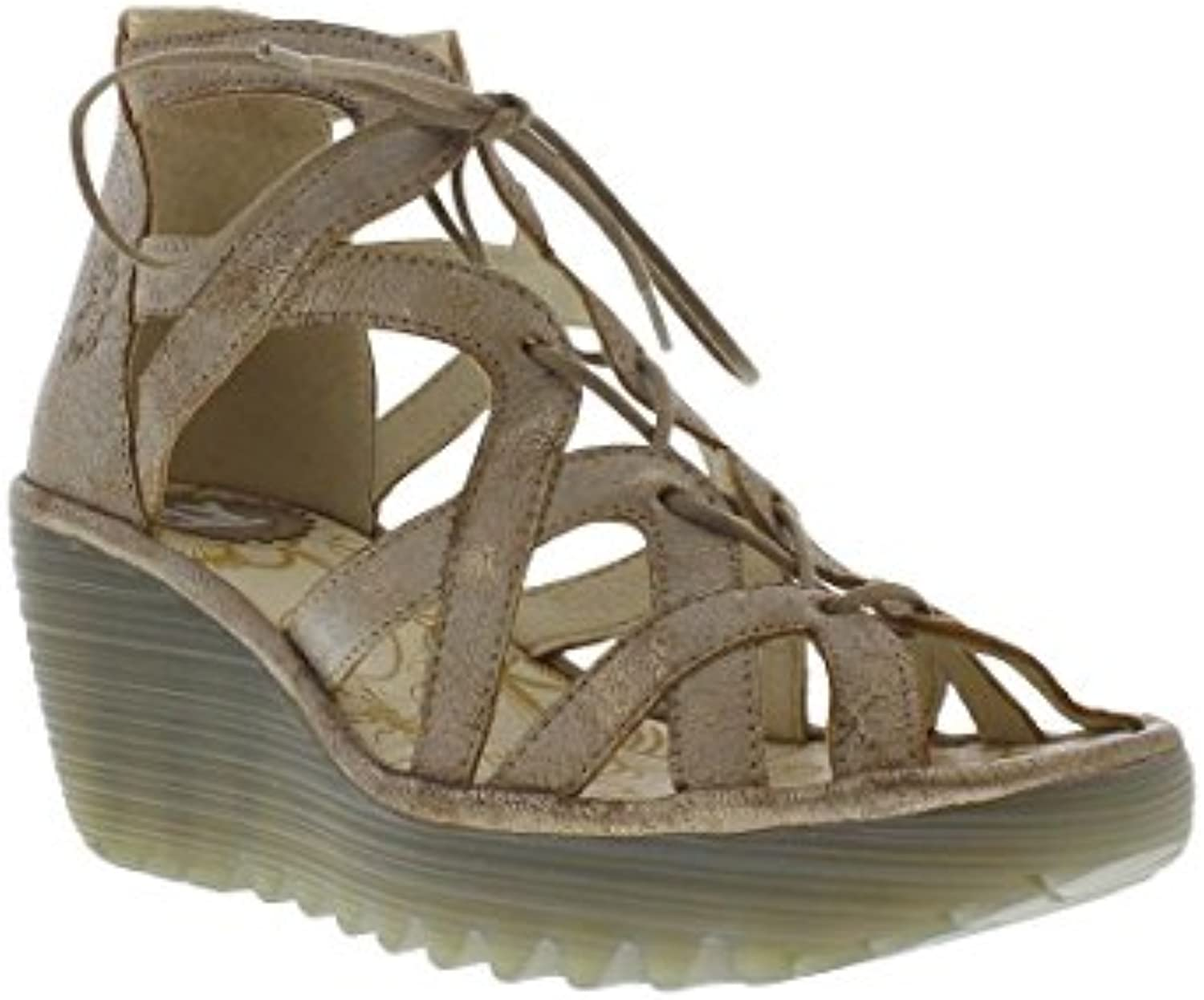 Fly Fly Fly London donna YELI719FLY Wedge Leather Sandals | Acquista