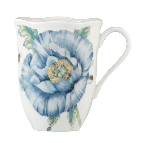 Lenox Speiseteller, Schmetterlingswiese, Blau Tasse 12 Ounce weiß Butterfly Meadow China