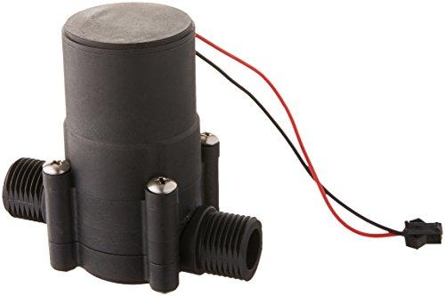 sourcingmap® DC 12V 20mm Männlich Gewinde Tragbar Rohrleitung-wasser-strom-Mini-Generator