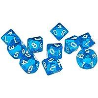 100pcs Kunstoff Würfel Spielwürfel für Brettspiel Kartenspiel