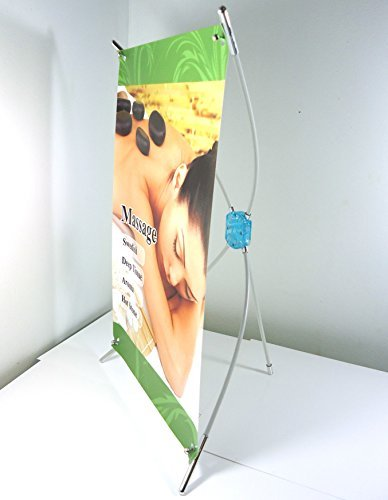 Super-Supply @ Mini Desktop Tabletop Countertop X-banner Stand Graphic Size from 8x15 to 10x17 (1pc) by SuperSupply (Banner 8x8 Stand)