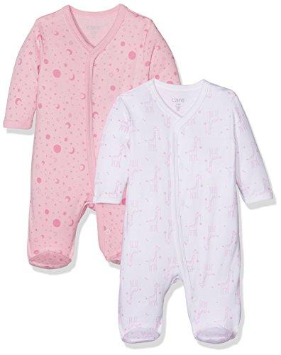 Care Baby-Mädchen Schlafstrampler, 2er Pack, Mehrfarbig (Fairy Rose 409), 9 Monate (Herstellergröße: 74)