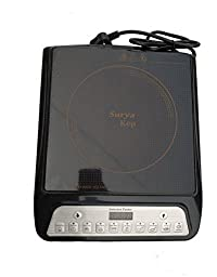 Surya A-8 Induction Cooktop (Black, Push Button)