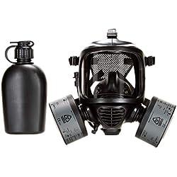 Masque à gaz nucléaire intégral CBRN, certifié conforme à la norme EN136. Protection efficace contre les agents nucléaires, biologiques et radiologiques CBRN (Mask with 2 Filters)