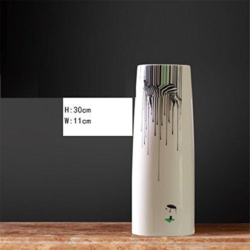 NOHOPE Simulation Lily Zebra Keramik Vase Set Wohnzimmer TV-Schrank Home Dekorationen Schmuck,B Schmuck-schrank Elfenbein