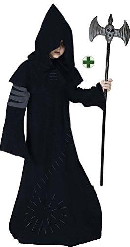 Karneval-Klamotten Warlock Kostüm Junge Halloween Horror Zauberer Magier Hexenmeister gruseliges INKL. Doppelaxt Kinderkostüm (Magier Kostüm Kind)