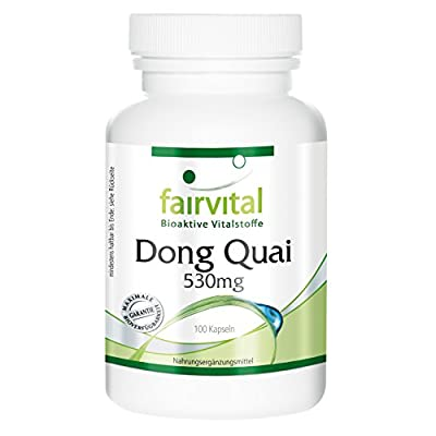 Fairvital - Dong Quai 530mg - Angelica Sinensis - For Centuries Proven to Harmonise the Natural Cycle - 100 Capsules by fairvital