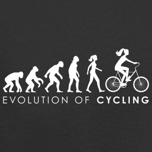 Evolution of Woman - Radfahrerin - Herren T-Shirt - 13 Farben Schwarz